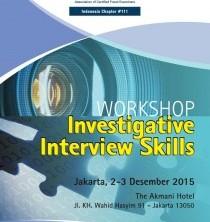 """Workshop """"Investigative Interview Skills"""""""